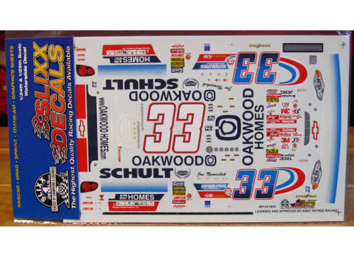 #33 Oakwood/Schult Joe Nemechek 2001 Slixx