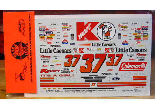 #37 K-mart Little Caesars 1995 White Car Slixx