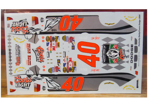 #40 Coors Light Kentucky Derby Sterling Marlin 2004 RaceScale