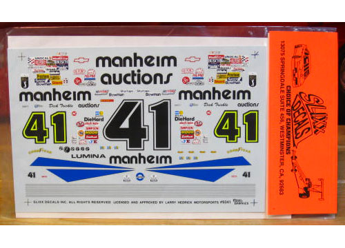 #41 Manheim Dick Trickle 1993 Slixx