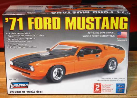 Lindberg 1971 Ford Mustang Kit Sealed