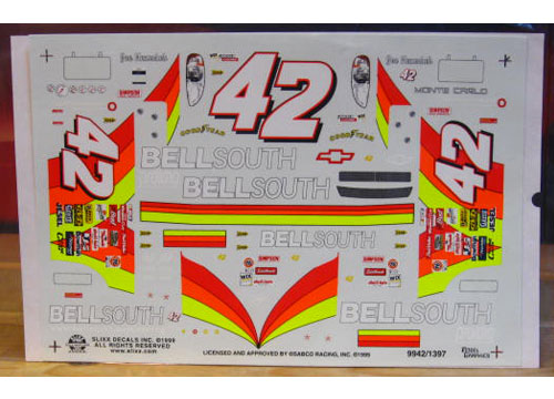 #42 Bell South Joe Nemechek 1999 Slixx