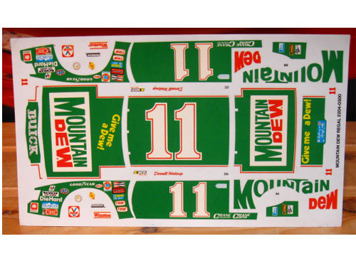 #11 Mountain Dew Darrell Waltrip Original 1982 Kit Decals