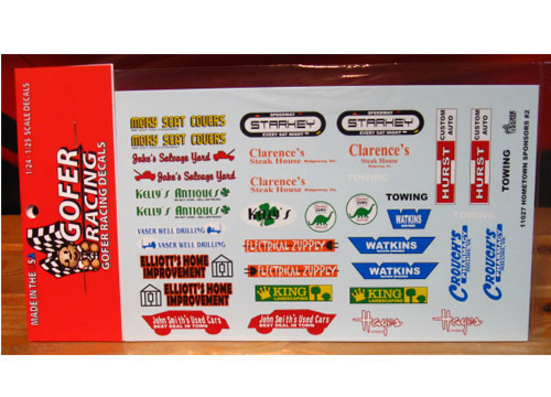 Gofer Decals #11027 Hometown Sponsors #2