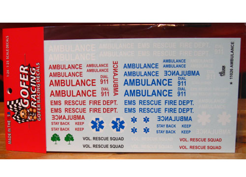Gofer Decals #11026 Ambulance Graphics