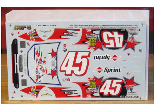 #45 Charity Ride Kyle Petty 2001 Slixx