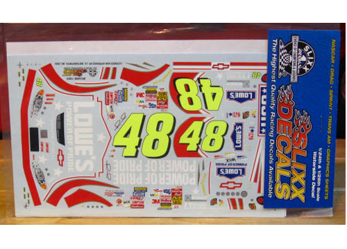 #48 Lowe\'s Power of Pride Jimmy Johnson 2003 Slixx