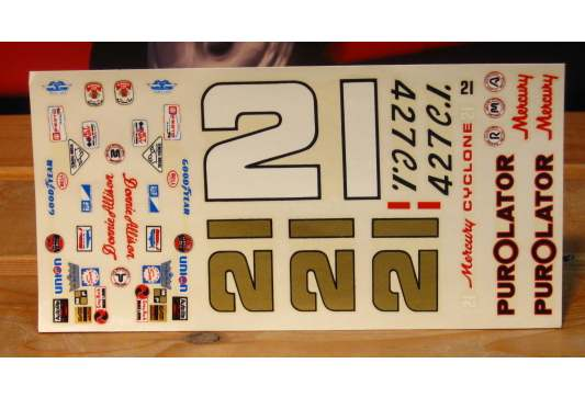 #21 Purolator Donnie Allison 1971 Original MPC Kit Decals