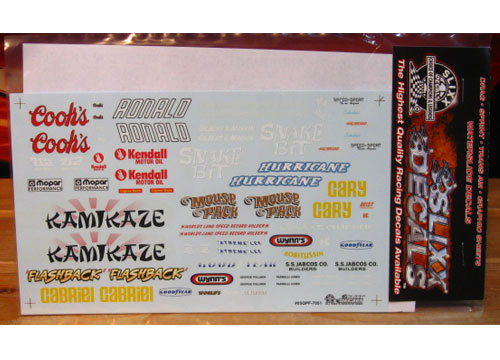 Slixx Quarter Panel Sponsors Sheet F #7051