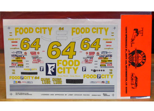 #64 Food City Jimmy Spencer 1994 Slixx