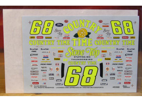 #68 Country Time Pink Bobby Hamilton 1993 Slixx
