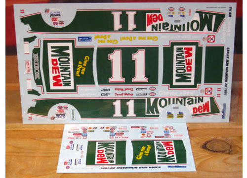 #11 Mountain Dew Darrell Waltrip 1981-82 Wetworks