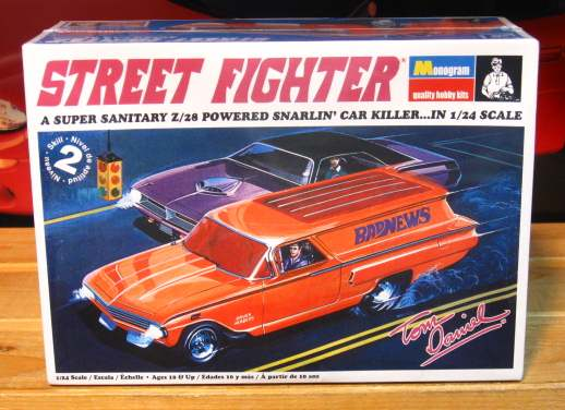 Monogram Street Fighter 1960 Chevy Sedan Delivery Kit Sealed