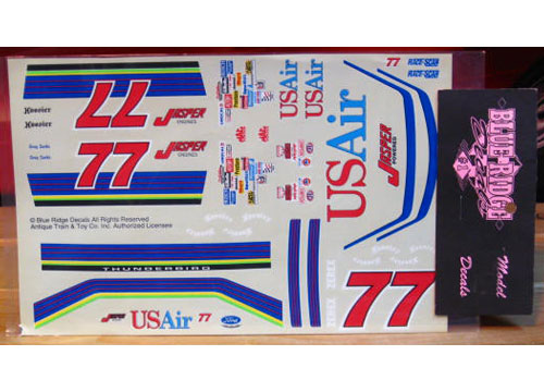#77 US Air Greg Sacks 1994 Blue Ridge
