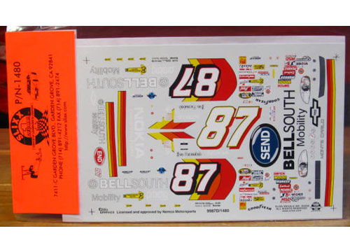 "#87 Bell South ""Send\"" Joe Nemechek 1999 Slixx"