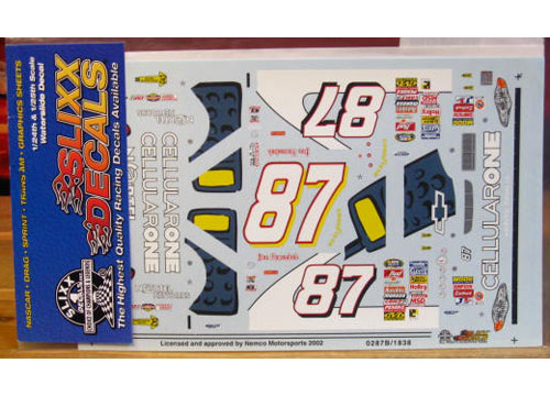 #87 Cellular One Joe Nemechek 2002 Slixx