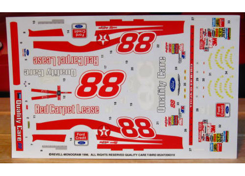#88 Quality Care Dale Jarrett 1996 Monogram