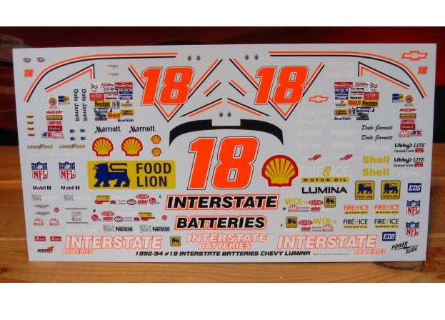 #18 Interstate Dale Jarrett 1993 Daytona 500 Winner Powerslide