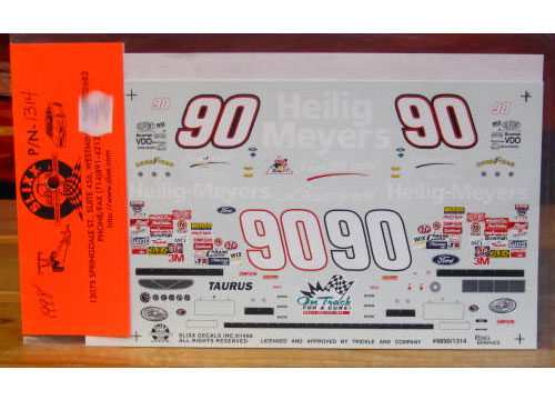 #90 Heilig Meyers Dick Trickle 1998 Slixx