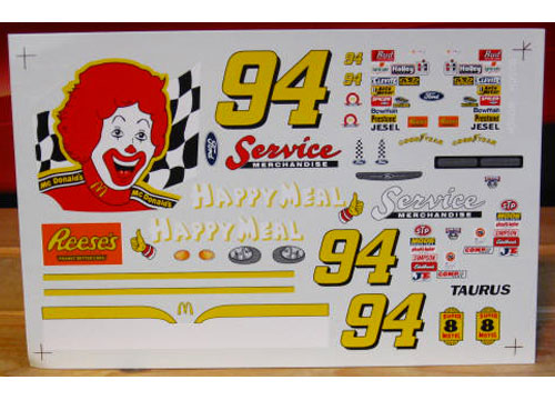 #94 Happy Meal Bill Elliott 1998