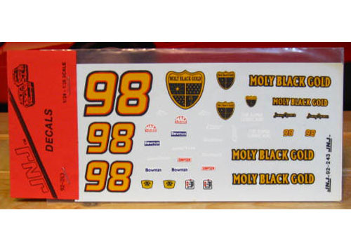 #98 Moly Black Gold Jimmy Spencer 1992 JNJ