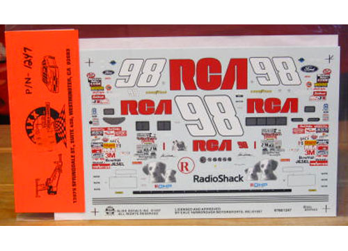#98 RCA Jeremy Mayfield 1997 Slixx