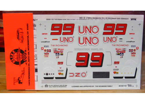 #99 Uno Tim Richmond Slixx