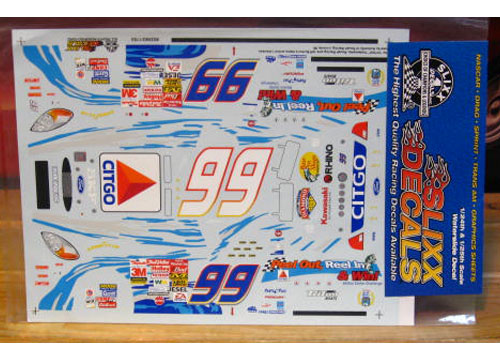 #99 Reel in and Win Jeff Burton 2002 Slixx