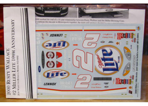 # 2 Miller 10th Ann Rusty Wallace 2000 JWTBM