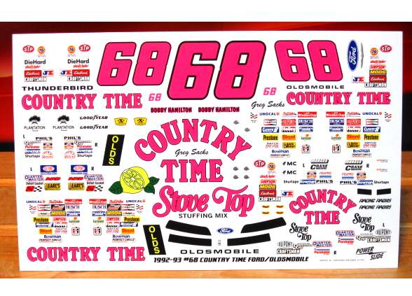 #68 Country Time Bobby Hamilton 1991-93 Powerslide