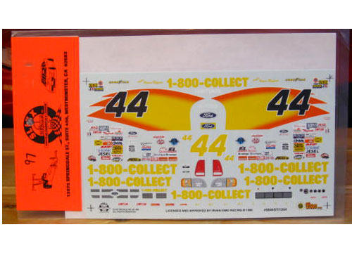 #44 1-800-COLLECT Flames 1996 Ford Slixx