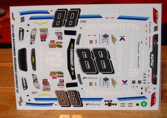 #88 Nationwide Dale Earnhardt Jr 2015 Powerslide