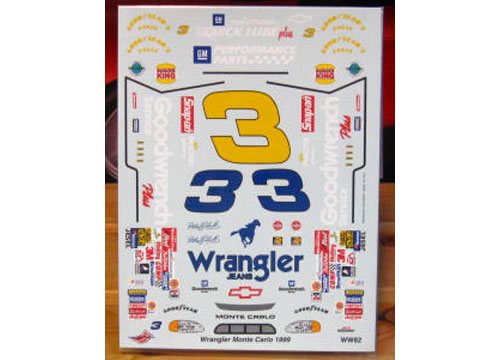 # 3 Wrangler Colors Dale Earnhardt 1999 The Winston Wetworks