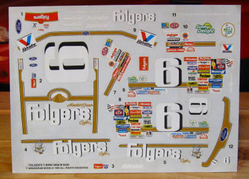 # 6 Folgers Mark Martin 1990 Monogram