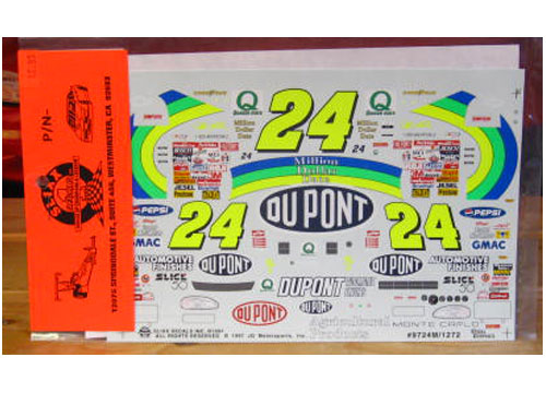 #24 Dupont Million Dollar Date Jeff Gordon 1997 Slixx