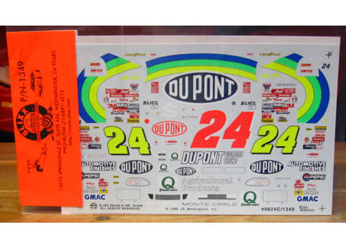 #24 DuPont Jeff Gordon 1998 Brickyard 400 No Bull Winner Slixx