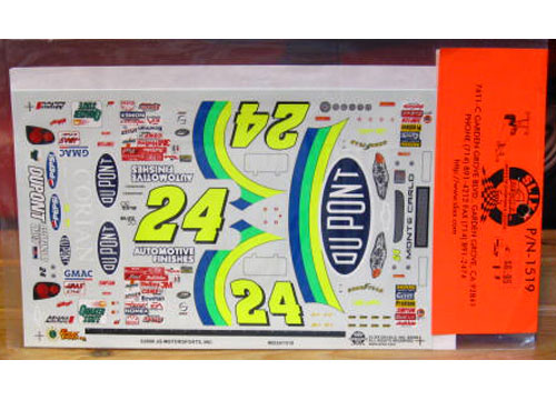 #24 Dupont Jeff Gordon 2000 Slixx