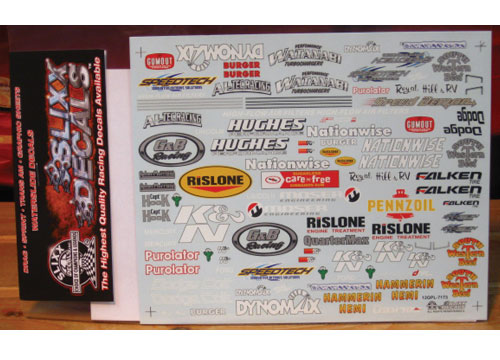 Slixx Quarter Panel Sponsors Sheet L #7173