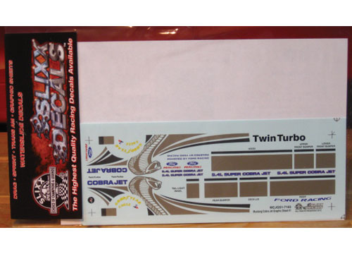 Slixx #7183 Mustang Cobra Jet Graphics Sheet #1