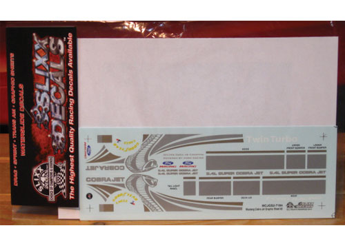 Slixx #7184 Mustang Cobra Jet Graphics Sheet #2