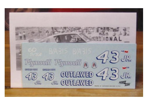 #43 Jr Outlawed Richard Petty 1965 Barracuda Powerslide