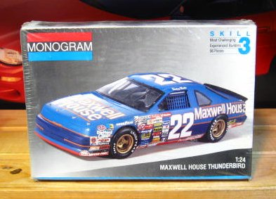 #22 Maxwell House Sterling Marlin 1991 Monogram Kit Sealed