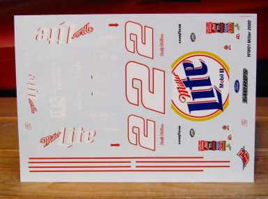 # 2 Miller Lite Rusty Wallace 2000 Wetworks