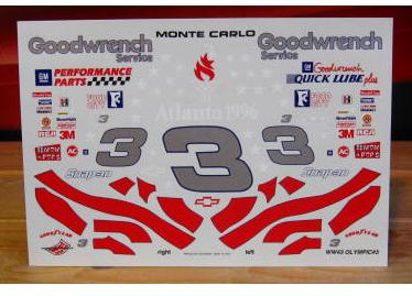# 3 Olympic Dale Earnhardt 1996 Wetworks