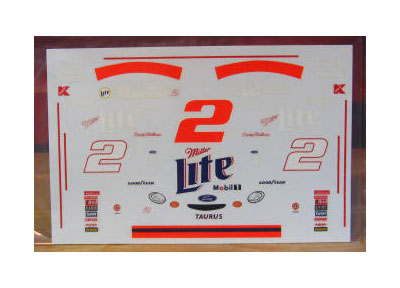 # 2 Miller Lite No Bull Rusty Wallace 1998 Brickyard