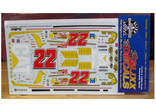 #22 Cat Tracks Ward Burton 2001 Slixx