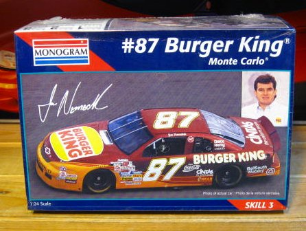 #87 Burger King Joe Nemechek 1995 Monogram Kit Sealed