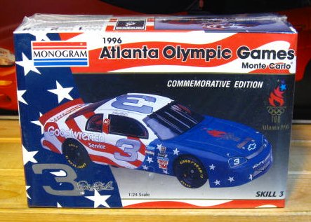 # 3 Olympic Games Dale Earnhardt 1996 Monogram Kit Sealed