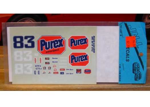 #83 Purex Lake Speed 1992 JNJ 1/32 Scale