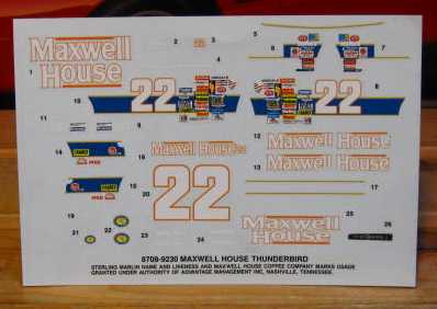 #22 Maxwell House Sterling Marlin 1991 AMT 1/32